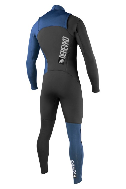 SHADOW HD FRONT ZIP 3:2MM CHARCOAL/BLUE FULL LENGTH STEAMER